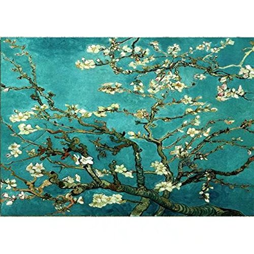 DIY Oil Painting, Paint by Numbers Kits for Adults Masterpieces Worldwide Famous Painting Collection for Friends Relatives Apricot Blossom by Van Gogh 16x20 Inch Frameless ()