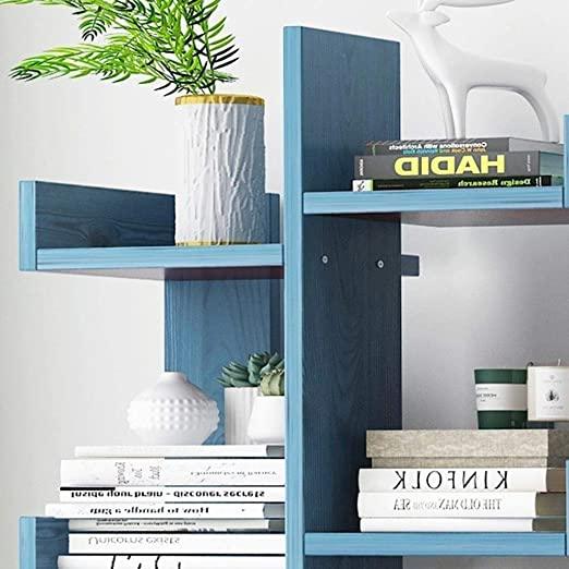 Amazon.com: DLJFU - Estantería de madera para libros ...