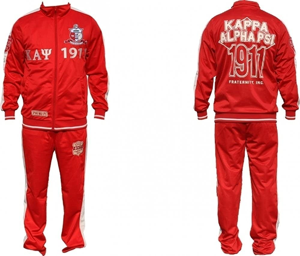 Kappa Alpha Psi Men/'s Jogging Suit Crimson Red