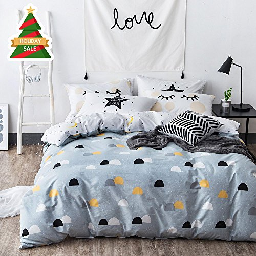 white and blue bedding - 5