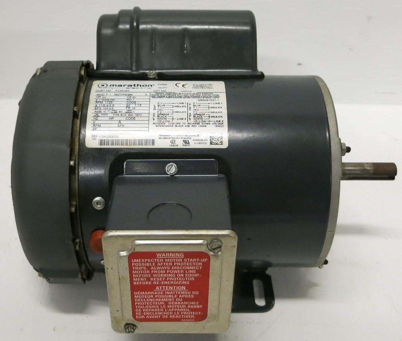 Marathon Electric 56C17F5326A F103-GX 3/4 HP Farm Duty Motor 115/208-230V