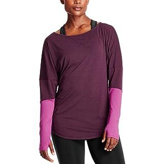 Mission Women's VaporActive Amplified Merino Long Sleeve Shirt, Potent Purple/Purple Wine, Medium