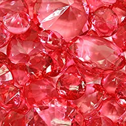 Koyal Wholesale Centerpiece Vase Filler Acrylic Diamonds, Coral
