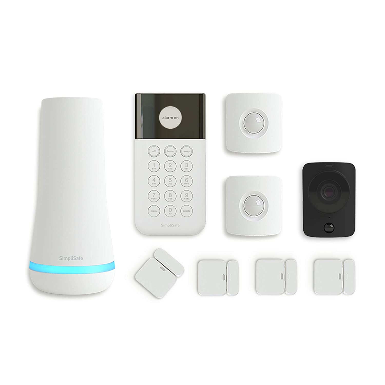 SimpliSafe 815017029711 New Generation Home Security System – 24/7 Monitoring – Home Protection – Wireless Home Security System – 9 Piece Alarm System with Security Camera (White, 9 Pieces)