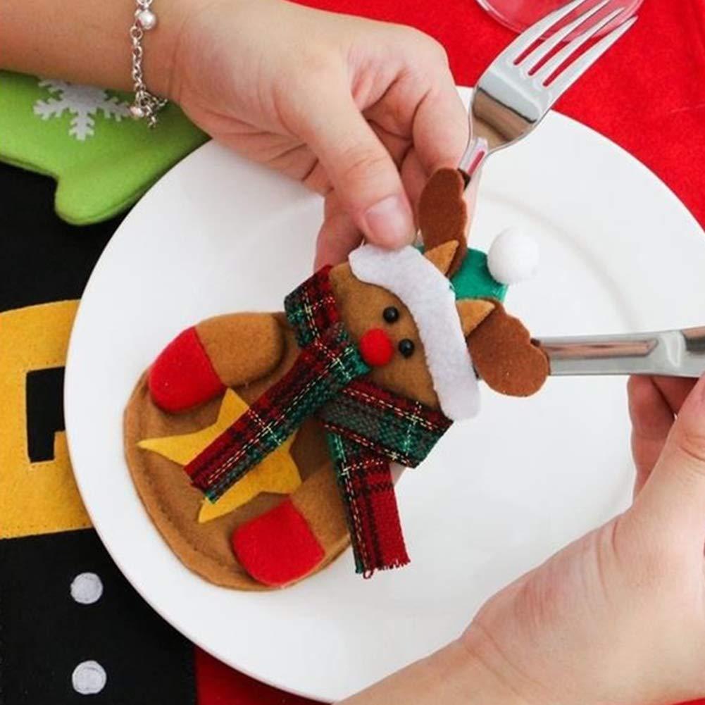 CHoppyWAVE Cutlery Pouch, Santa Claus Pattern Cutlery Holder Utensil Bag Fork Knife Pocket Xmas Decoration - A6-2-1 Tree Santa Claus by CHoppyWAVE (Image #8)