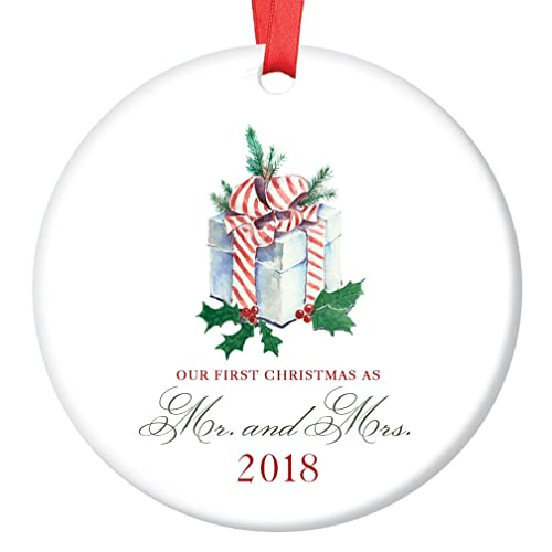 our first christmas as mr mrs ornament 2018 1st married christmas ornament first - Our First Married Christmas Ornament
