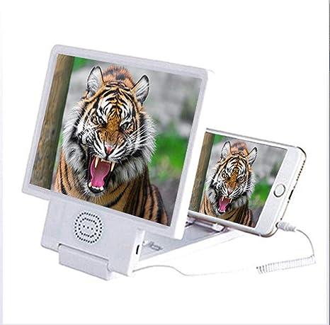YOLE 8,5-Inch Pantalla 3D Lupa, Altavoz de Altavoces Smartphone ...