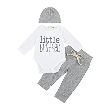 Amazon.com: Sameno Newborn Baby Boys Girls Short Sleeve Letter Print ...
