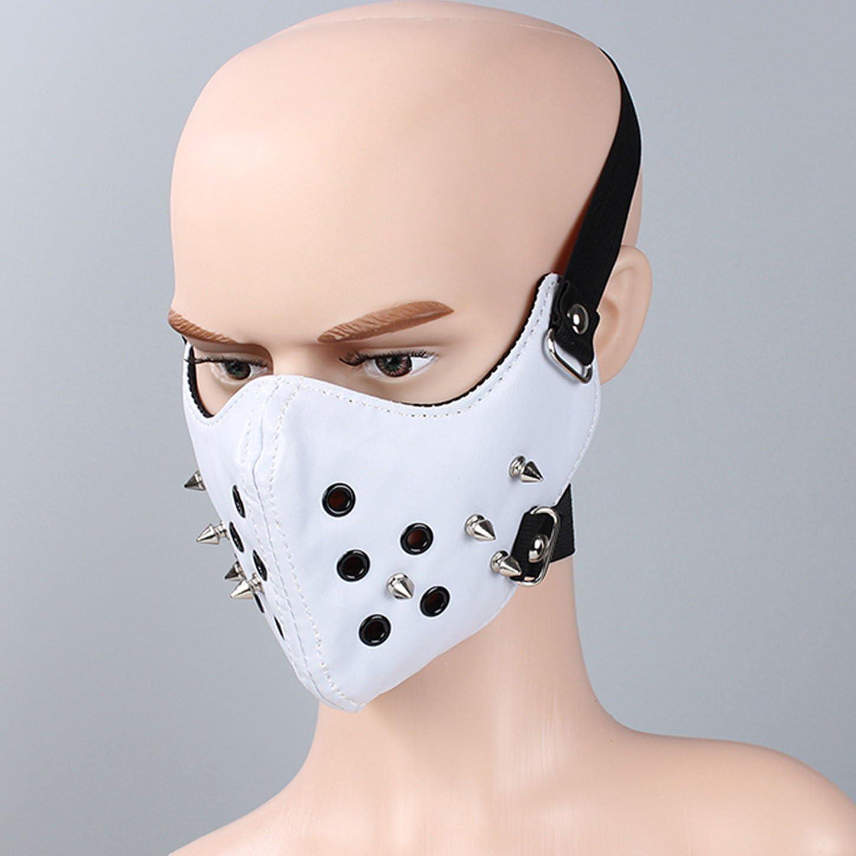 AIEOE Masque Moto Demi-Visage Halloween Punk D/éguisement F/ête Carnaval Protection Anti-poussi/ère Cyclisme CS Airsoft Vintage Style Ski pour Homme Femme