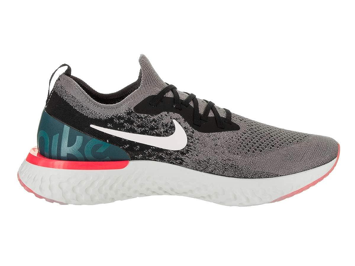 Amazon.com | Nike Mens Epic React Flyknit Gunsmoke/White/Black Running Shoe 11.5 Men US | Running