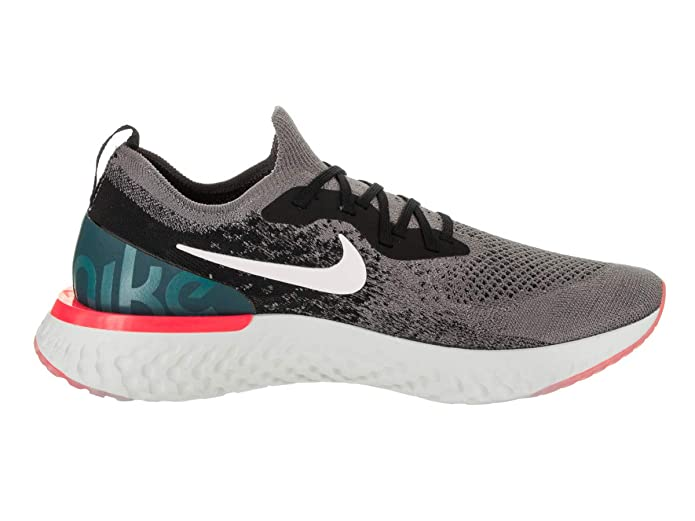 Amazon.com | Nike Mens Epic React Flyknit Gunsmoke/White/Black Running Shoe 11.5 Men US | Running