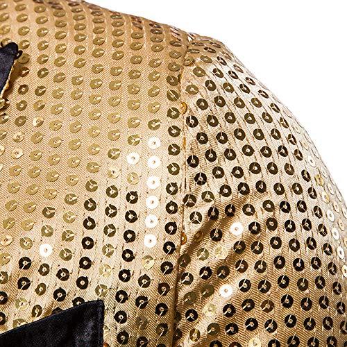 Vintage Longues Or Élégant Blazer Manteau Costume De Retro Cocktail Fit Veste Manches Tuxedo Laamei Slim À Hommes Paillettes Mariage dZ8Hnnq0U