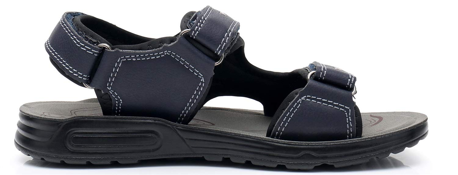 Non-Slip Summer Shoes Kids Boys Open Toe Three Strap Walking Sandals Durable Color : Navy , Size : 7 M US Big Kid
