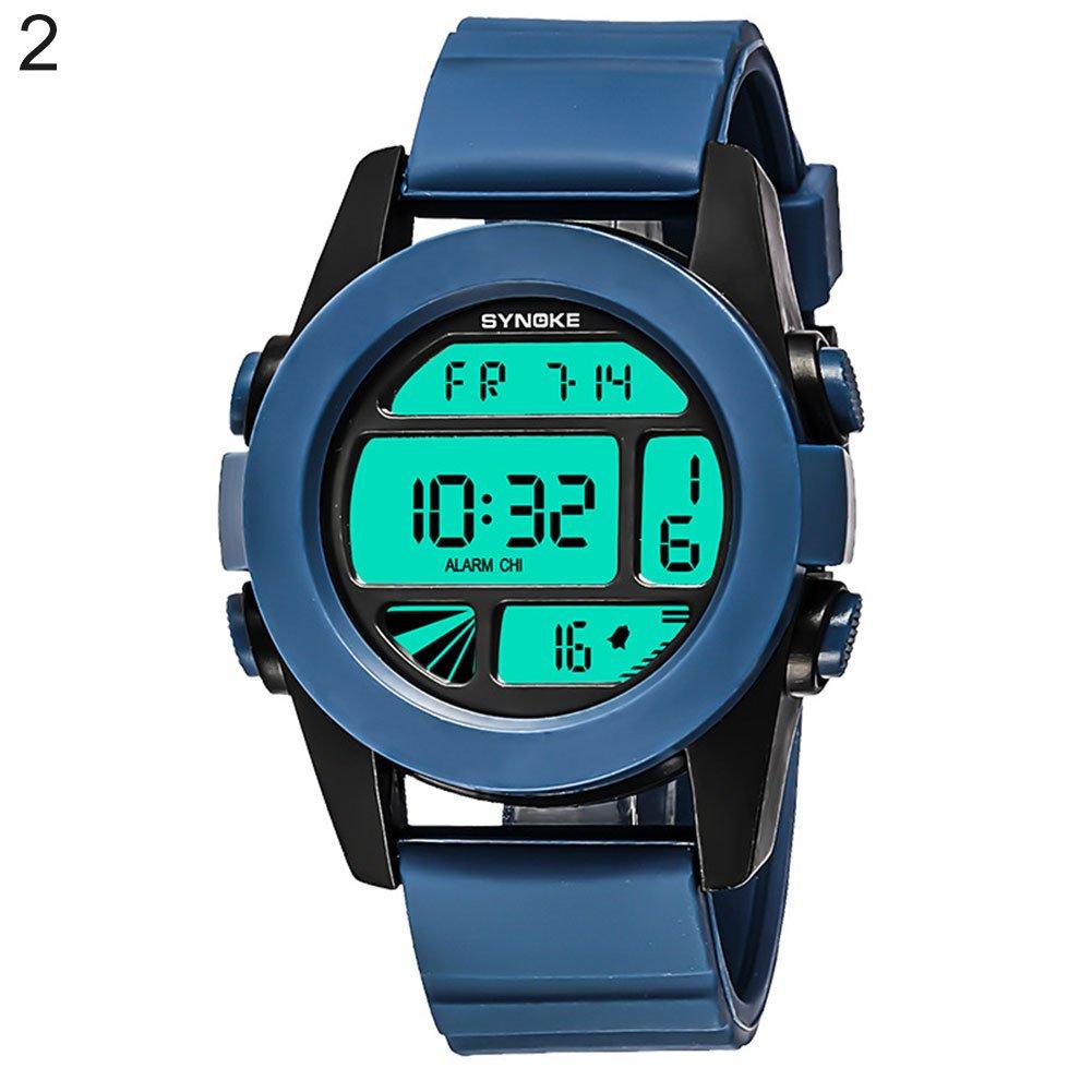 Pengyu Reloj digital, unisex, color fresco, relojes electrónicos, correr, resistente al agua, reloj de pulsera analógico, reloj de pulsera para pareja de ...