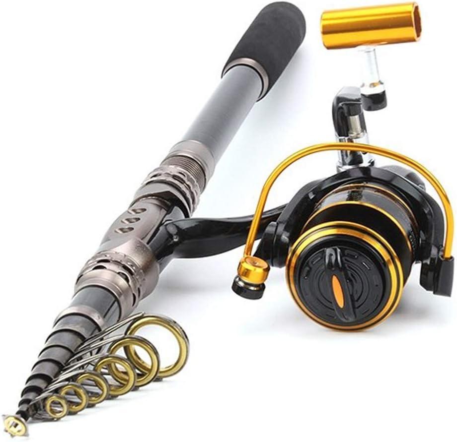 望遠鏡の釣竿のスーツ袋が付いている超軽量の小型収縮の車輪の海柱  240 cm