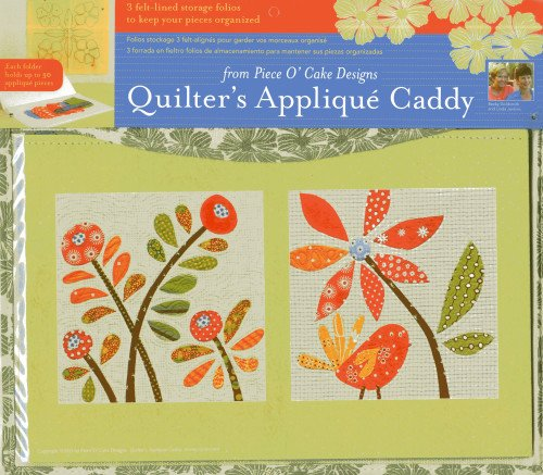 Quilter's Applique Caddy: 3 Felt-lined Storage Folios Keep Your Fabric Pieces - Cake Fabric Of Piece