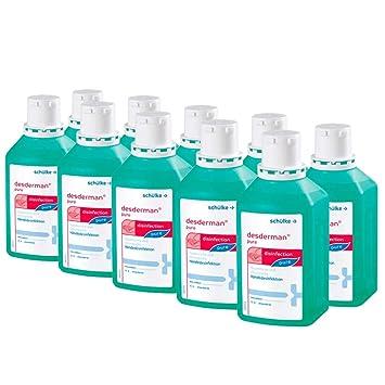 10x 500 Ml Schulke Desderman Pure Handedesinfektionsmittel