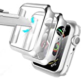Alinsea Screen Protector for Apple Watch 44mm Series 4/5/6/ SE Tempered Glass [2 Pack] [Full Coverage] Bumper Hard Case…