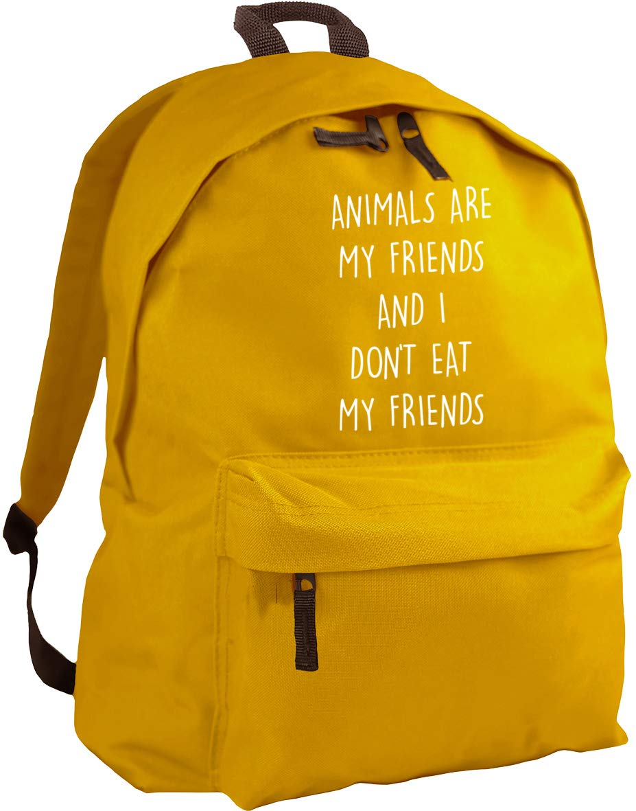 HippoWarehouse Animals are my friends and I don't eat my friends backpack ruck sack Dimensions: 31 x 42 x 21 cm Capacity: 18 litres
