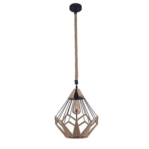 Amazon.com: Seleq - Lámpara de techo con forma de jaula de ...
