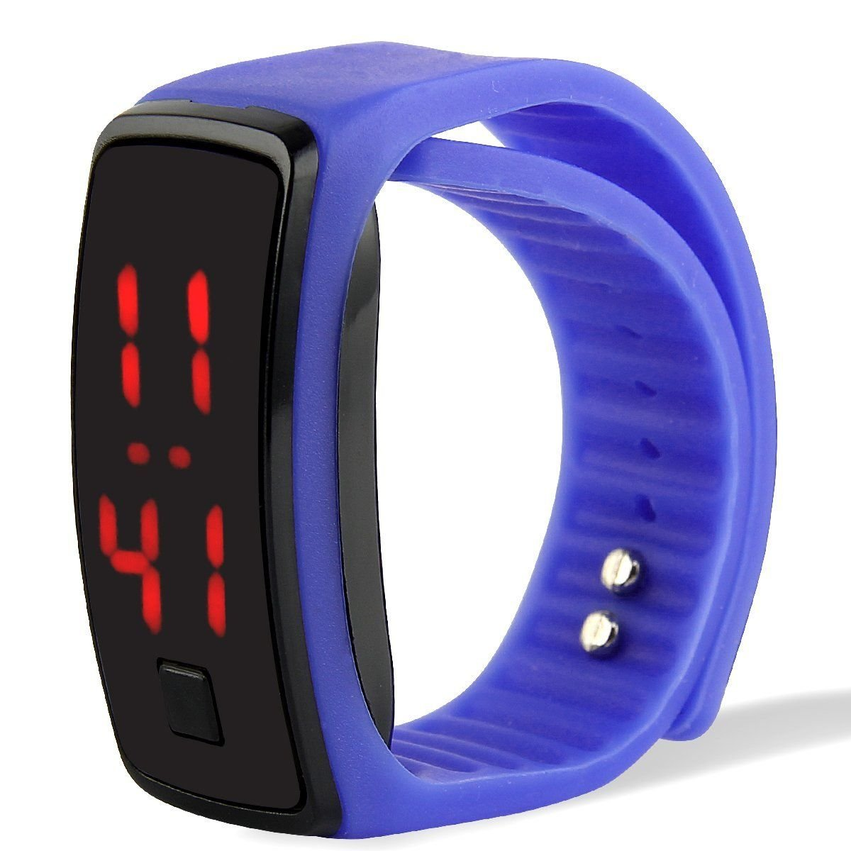 Popsport Striking Silicone LED Sport Bracelet Touch Digital Wrist Watch (Blue) by Popsport (Image #1)