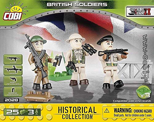 COBI Historical Collection British Soldiers Toy, - Soldiers Collection