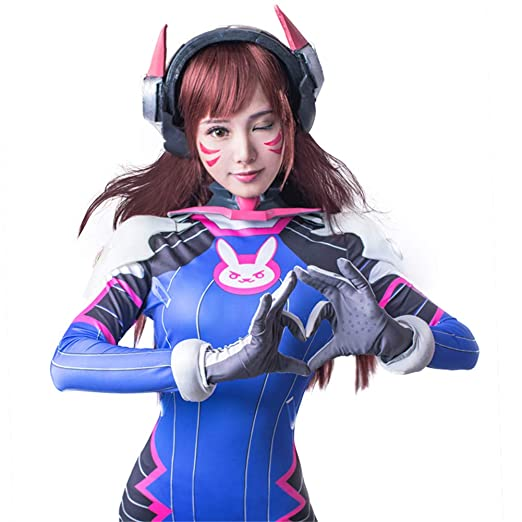 Overwatch D.Va Cosplay Hana Song Outfit Set V1 Conejo Bodysuit ...