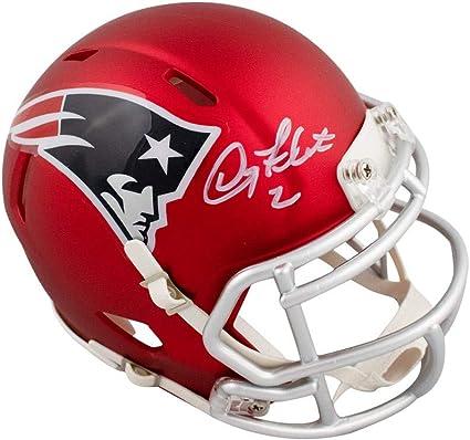 Doug Flutie Autographed New England Patriots Blaze Mini Football Helmet BAS COA