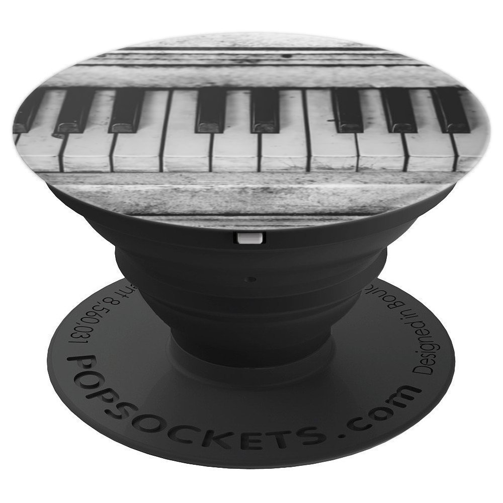 Amazon com piano keys vintage black and white photography popsockets grip and stand for phones and tablets cell phones accessories