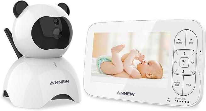 ANNEW Vigilabebés 5 LCD Bebé Monitor con Cámara Digital ...
