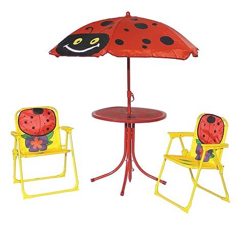 Fachhandel-Plus Set de Muebles de jardín Infantiles 4 Piezas ...