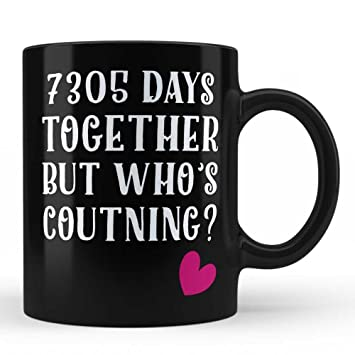 Amazon 20th Wedding Anniversary Gifts Mug For Wife Husband