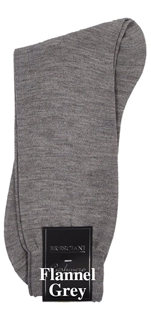 1 Pair or EXTREMELY RARE Zimmerli or Zimmerli Bresciani 100% Bresciani Cashmere Crew Dress Socks B07DDQ5LCT  フランネルグレー X-Large, 自転車の部品屋さん:169e93fb --- jpworks.be