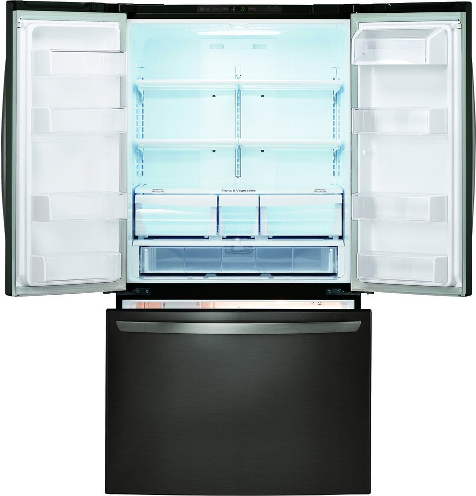 Amazon lg lfc21776d 36 counter depth french door amazon lg lfc21776d 36 counter depth french door refrigerator with 207 cu ft total capacity in black stainless steel appliances rubansaba