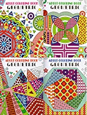 Geometric Adult Coloring Books - (4-Pack) -…