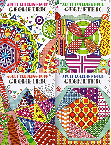 Price comparison product image Geometric Adult Coloring Books - (4-Pack) - v2