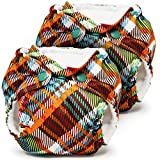 Lil Joey 2-Pack All-In-One Cloth Diaper, Quinn Plaid
