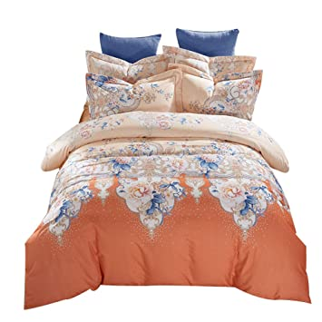 Amazon com: YUWJ Comforter Set 100% Cotton Queen King Bed
