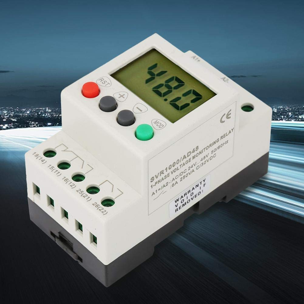 SVR1000 Single Phase Over-Voltage Under-Voltage Protection Relay for Home Electrical Single Phase Relay AD220