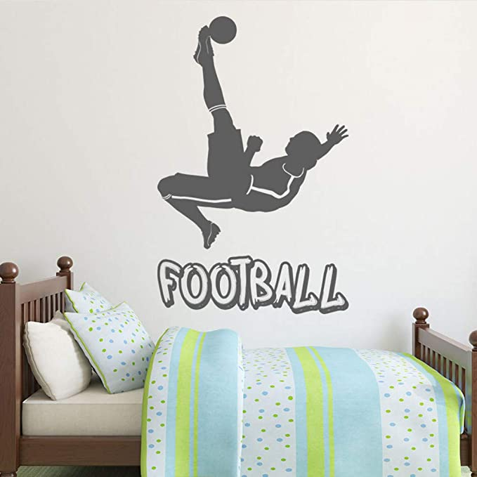 Finloveg Logotipo De Fútbol Jugador Y Balón Fútbol Pegatinas De ...