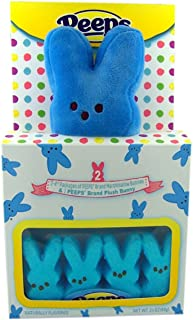 product image for Peeps Blue Plush Bunny with Peeps Marshmallow Candy Bunnies Gift Set