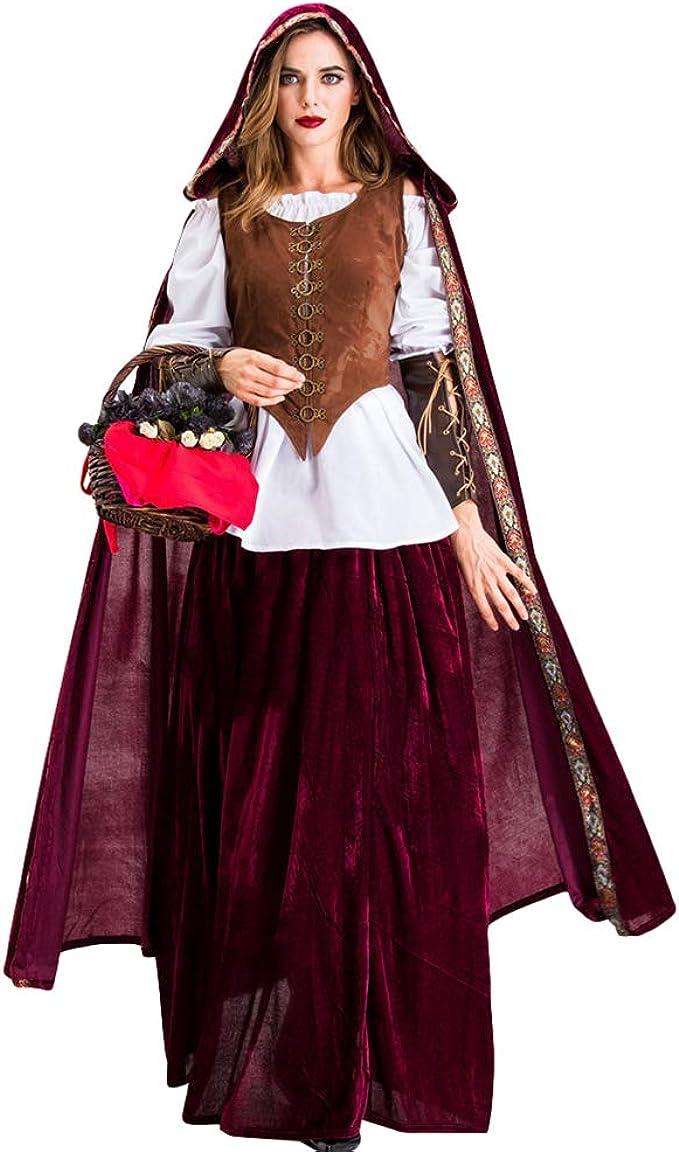 YOUJIAA Disfraces de Halloween para Mujer Disfraz de Vampiro ...