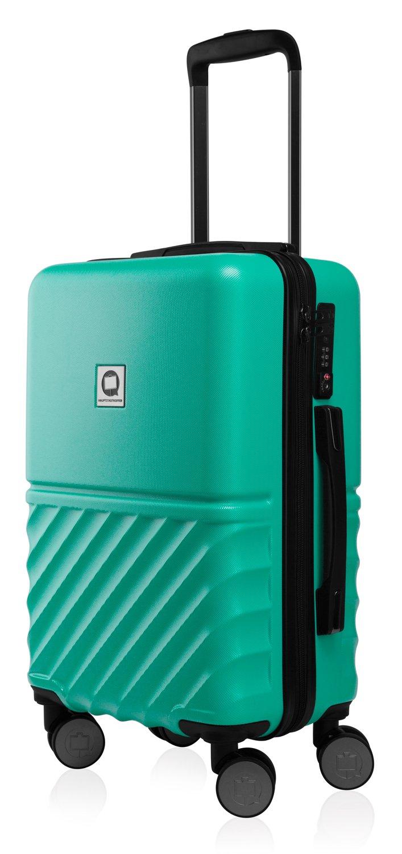 HAUPTSTADTKOFFER - Boxi - Hartschalen-Koffer Koffer Trolley Rollkoffer Reisekoffer 4 Rollen, TSA, 75 cm, 108 Liter, Dunkelblau HK28-8761-DB