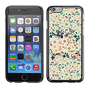 MOBMART Carcasa Funda Case Cover Armor Shell PARA Apple iPhone 6 / 6S - Magical Floral Drawings
