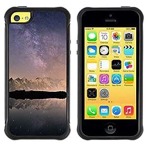 Suave TPU GEL Carcasa Funda Silicona Blando Estuche Caso de protección (para) Apple Iphone 5C / CECELL Phone case / / Snow Mountains Antarctica Sky /