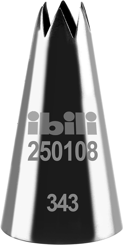Edelstahl Silber H 50 MM IBILI /Étoile Spritzt/ülle Offener Stern 4 mm