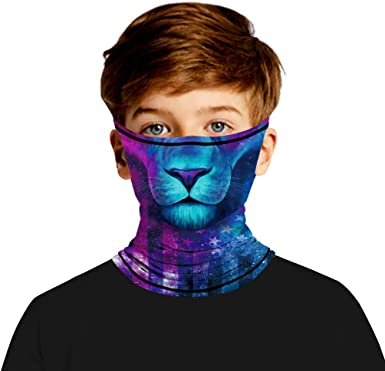 Amazon.com: Kids Neck Gaiter, Cooling Neck Gaiters with Ear Loops, UV  Protection Children Face Mask Face Cover Bandana for Child: Clothing