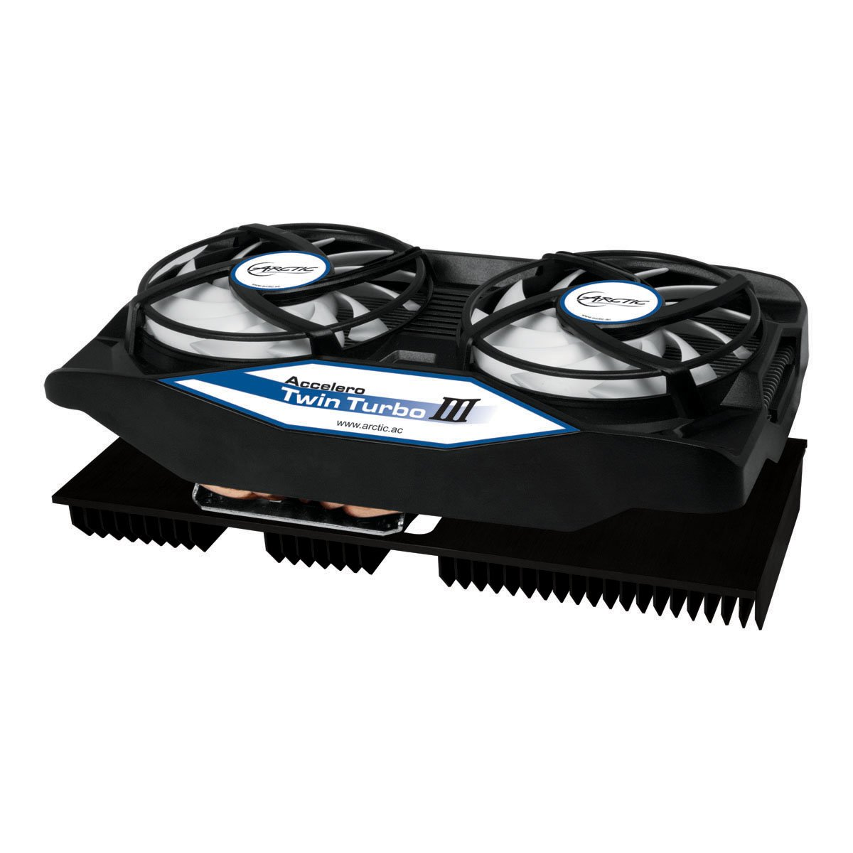 ARCTIC Accelero Twin Turbo III Graphics Card Cooler with Backside Cooler for Efficient RAM, VRM Cooling and VGA Cooler DCACO-V820001-GBA01 by ARCTIC (Image #1)