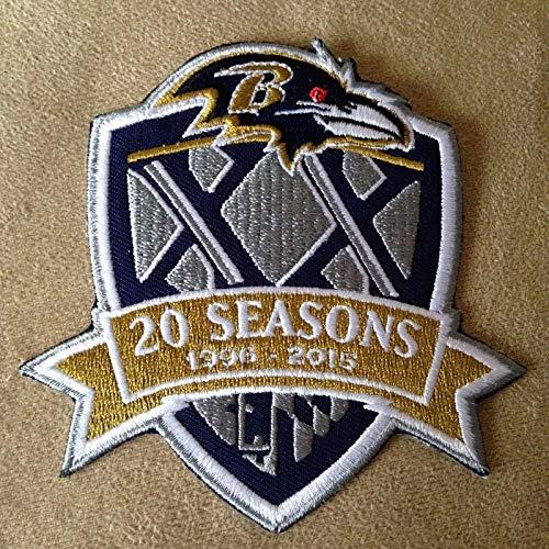 Baltimore Ravens 1996-2015 20 Seasons Commemorative Logo Iron on Jersey Patch 4