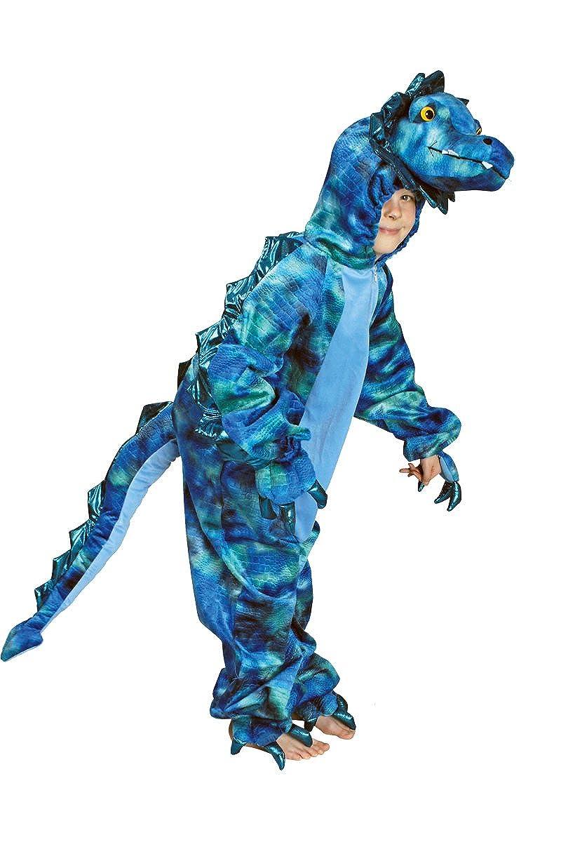 K332550 Triceratops Kostüm blau Dino Dinosaurier